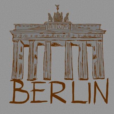 Vintage sketch of Brandenburg Gate