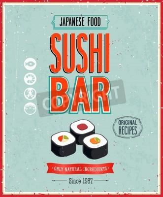 Poster Vintage Sushi Bar Poster.