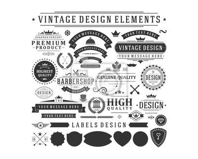 Poster vintage vector