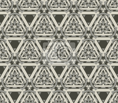 Poster vintage wallpaper pattern seamless background. Vector.