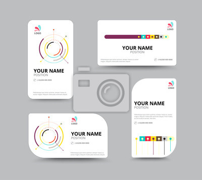 Visitenkarten Vorlage Visitenkarte Layout Design Vector