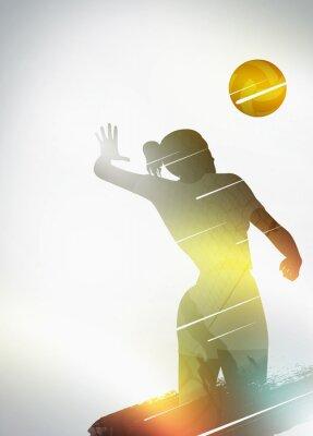 Poster Volleyball flache Design-Hintergrund