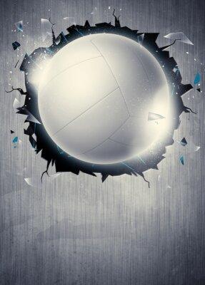 Poster Volleyball Hintergrund
