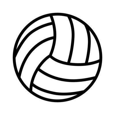 Poster Volleyball-Kugel-Linie Kunst-Symbol für Sport-Apps und Websites