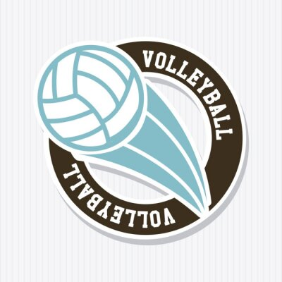 Poster Volleyball-Label