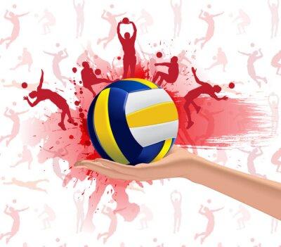 Poster Volleyball Sport-Design-Hintergrund