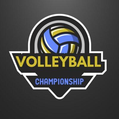 Poster Volleyballsportzeichen, Aufkleber, Emblem.