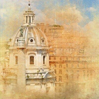 Wahrzeichen Roms - vintage Serie