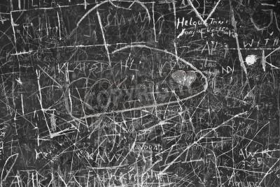 Poster Wand-Graffiti als Symbol für Stadtkommunikation