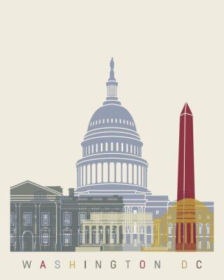 Poster Washington DC-Skylineplakat