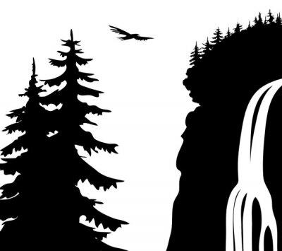 Poster Wasserfall.