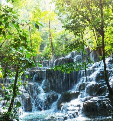 Poster Wasserfall in Mexiko