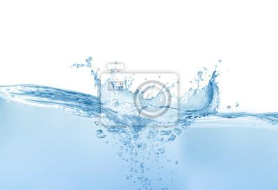 Poster  water splash isolated on white background, water splash