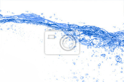 Poster Water,water splash isolated on white background