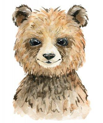 Poster Watercolor cute bear.