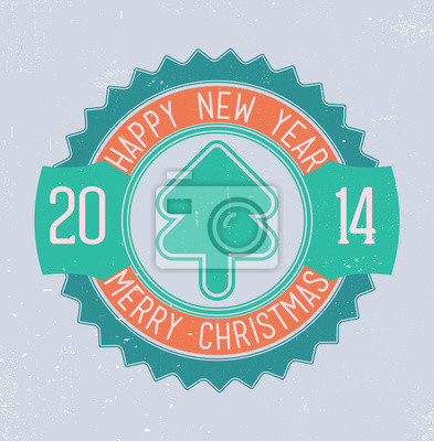Poster Weihnachten Emblem