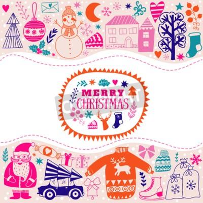 Weihnachten grußkarte vorlage, vektor frohe weihnachten. winter ...