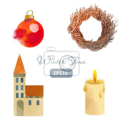 Weihnachten Winterzeit Kranz