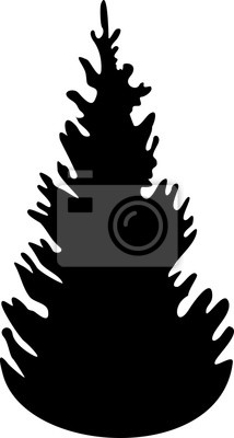 Weihnachtsbaum Schwarz Weiß.Poster Weihnachtsbaum Silhouette Schwarz Weiß Symbol Weihnachtsbaum