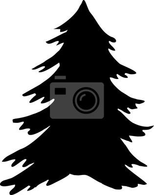 Weihnachtsbaum Schwarz Weiß.Poster Weihnachtsbaum Symbol Weihnachtsbaum Vektor Symbol Weihnachtsbaum