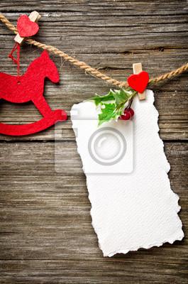 Weihnachtskarte auf Holz
