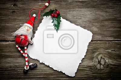 Weihnachtskarte mit Santa