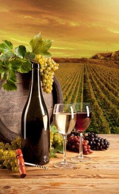 Poster Wein im Weinberg