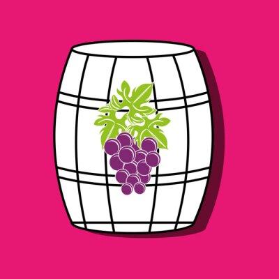 Poster Wein-Symbol-Design