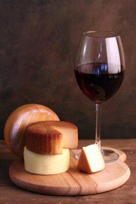 Poster Wein und Käse