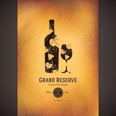 Poster Weinkarte Design