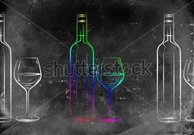 Poster Weinkunstabbildung