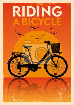 Weinlese-Fahrrad-Plakat