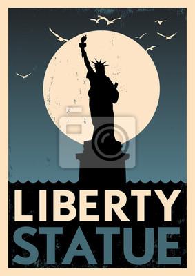 Weinlese-Freiheits-Statue Poster