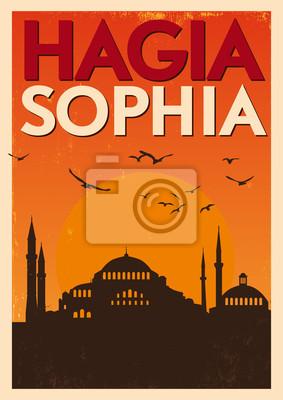 Weinlese Hagia Sophia Poster