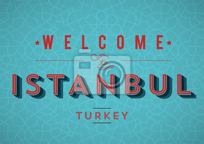 Weinlese Istanbul Card Design