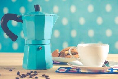 Poster Weinlese-Kaffee-