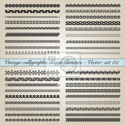 Weinlese kalligraphischen Design-Elemente