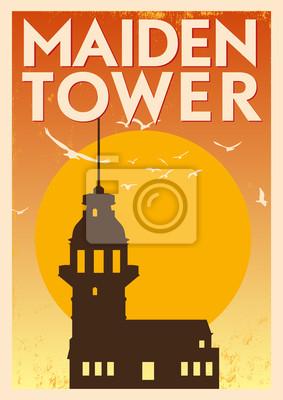 Weinlese Maiden Tower Poster