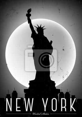 Weinlese New York Poster