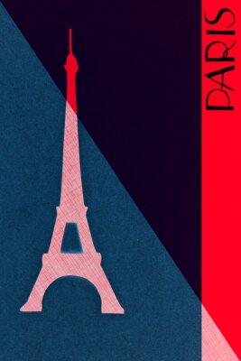 Poster Weinlese Paris-Post - Kalligraphie - handgeschriebener Entwurf elemen
