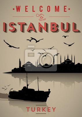 Weinlese-Plakat Istanbul