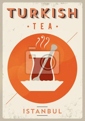 Weinlese-Türkischer Tee Poster
