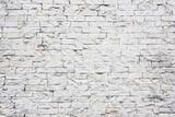 Weiße Dekorative Ziegelmauer Textur.