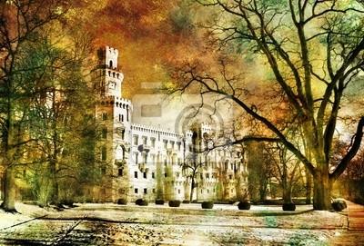 weiße Schloss - Bild im Bild-Stil
