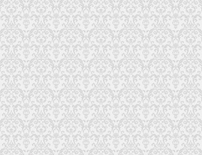 Poster weißen Blumenmuster Tapeten