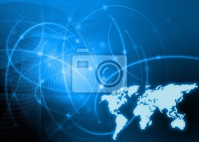 Welt Karte Technologie Stil