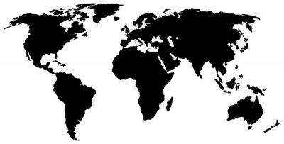 weltkarte silhouette Weltkarte silhouette wandposter • poster Globalisierung, förmigen  weltkarte silhouette