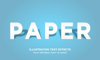 Poster White Paper Text Effect