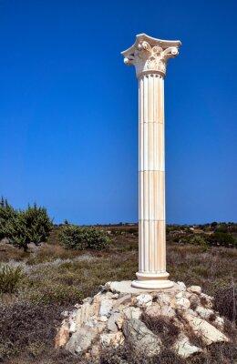 Poster Wiederaufbau der korinthischen Säulen auf der Insel Kos, Griechenland.