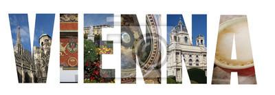 Wien Österreich Collage auf weiß